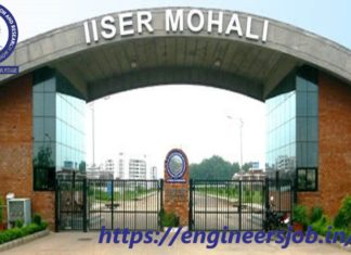 Project Assistant at IISER Mohali - Apply by 08 October 2020